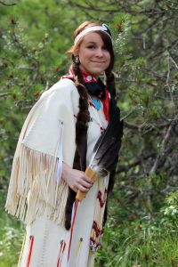 Pic my dad snapped of me in my regalia last summer.